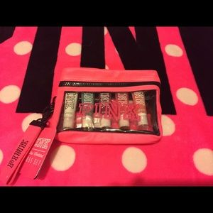 VS Pink lip gloss zipper pouch and keychain new